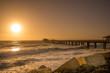 Quadro Jetty von Swakopmund im Sonnenuntergang