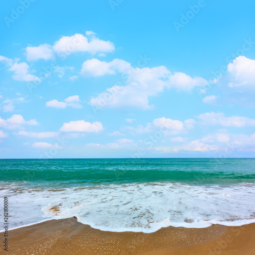Sandy beach of seaside resort