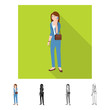 Isolated object of woman  and business logo. Set of woman  and businessperson vector icon for stock.