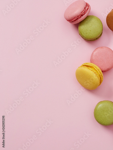 canvas print picture Macaroons close-up