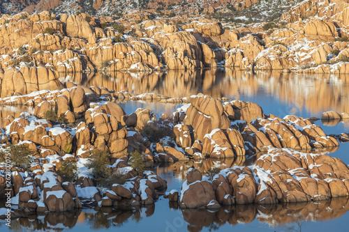 Winter Landscape Watson Lake Prescott Arizona