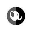 canvas print picture - Elephant icon or logo