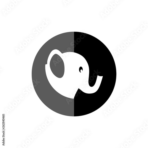 canvas print picture Elephant icon or logo