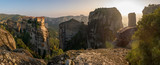 Monasteries build on top of stone pillars at Meteora.