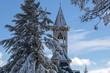 Quadro clocher Abbaye Saint-Benoit-du-Lac, monastère, Québec Canada