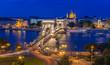 canvas print picture - Panorama von Budapest