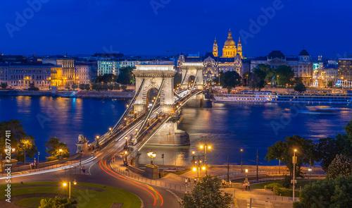 canvas print picture Panorama von Budapest