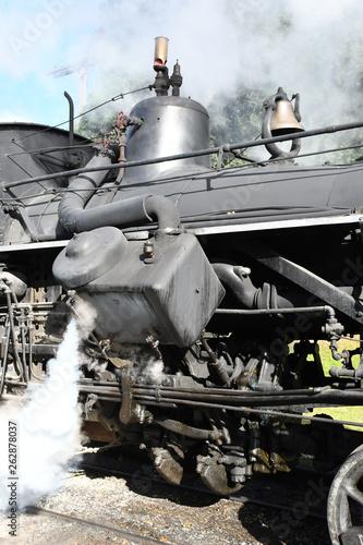 steam railroad locomotive running gear