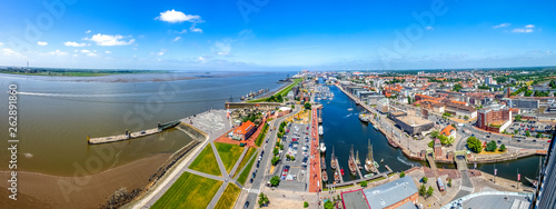 canvas print picture Bremerhaven, Hafencity