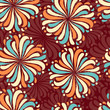 Seamless abstract pattern with the image of a flower ornament. - 262910876