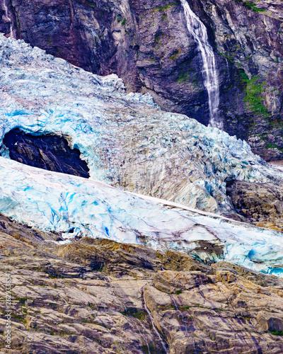 canvas print picture Boyabreen Glacier in Norway