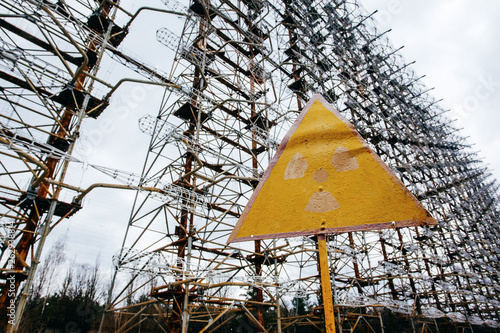 canvas print picture  Duga was a Soviet over-the-horizon (OTH) radar system  . Military antenna in Chernobyl, Tour to Chernobyl and Pripyat