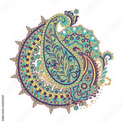 Paisley Ornamental motifs of the Indian fabric patterns