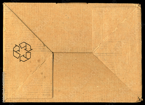 Recycle symbol on cardboard © suzannmeer