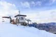 canvas print picture - Ski resort Pila in Aosta Valley, Italy