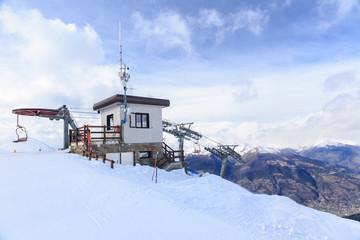 Ski resort Pila in Aosta Valley, Italy
