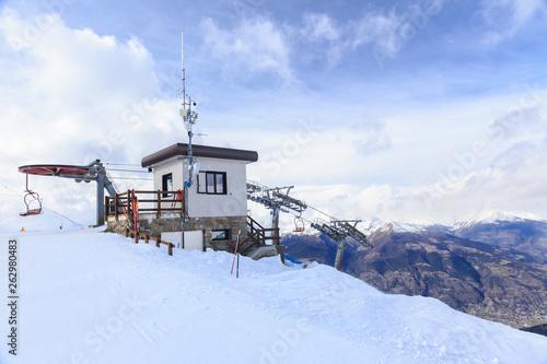 canvas print picture Ski resort Pila in Aosta Valley, Italy