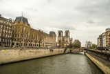 View of Paris, in the background, Notre Dame