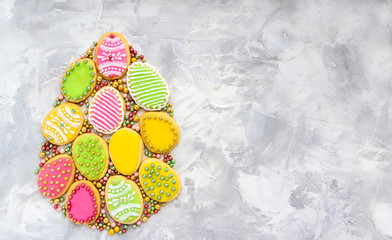 Easter cookies background.