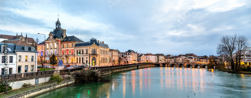Panorama of Meaux town with the Marne river in France - 263029480