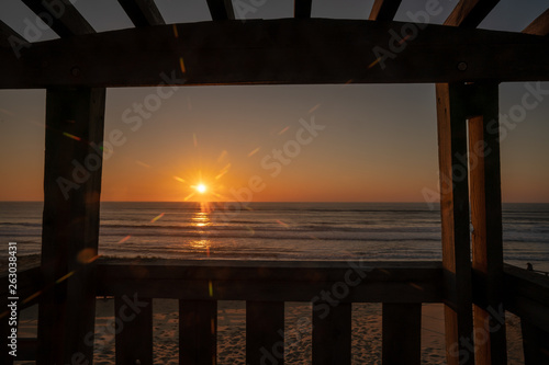 canvas print picture Sunset im Blickfang