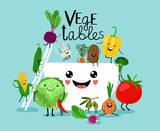 Vegetables salad diet. Fresh vegetarian healthy meals, vegetable bowl ingredients, raw food vegan diet design illustration