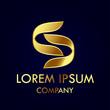 Letter S logo gold - 263089699