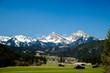 canvas print picture - Blick auf Heiterwang und die Lechtaler Alpen