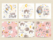 Set of cards for small girls - 263109838