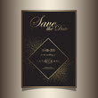 Gold glitter save the date invitation design - 263183829