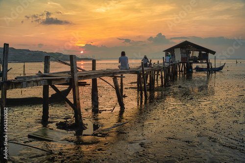 pier at sunset © CHRISTOPHER