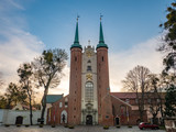 Oliwa Cathedral in the morning. Gdansk, Poland.