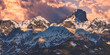 canvas print picture - Bergpanorama