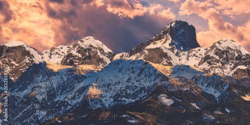 canvas print picture Bergpanorama