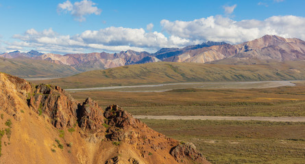 Scenic Denali National Park Alaska Landscape