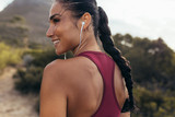 Woman ready for cross country run