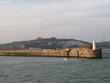 canvas print picture - Dover und der Hafen