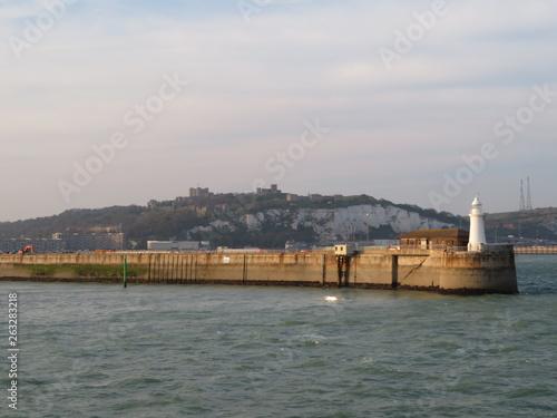 canvas print picture Dover und der Hafen
