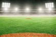 Baseball Field in Outdoor Stadium With Copy Space