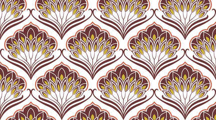 Pattern Damasco Floreale Beige