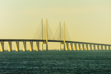 Oresund bridge between Denmark and Sweden.