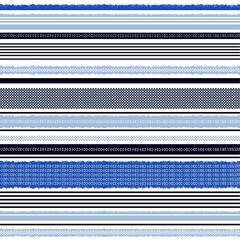 Seamless monotone blue horizontal striped pattern vector
