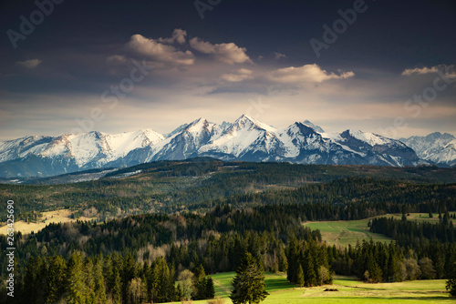 Tatry mountains spring