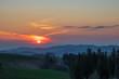 canvas print picture - Sonnenuntergang im Schwarzwald