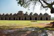 Ancient ruins of Elephant Stables. Hampi, India.