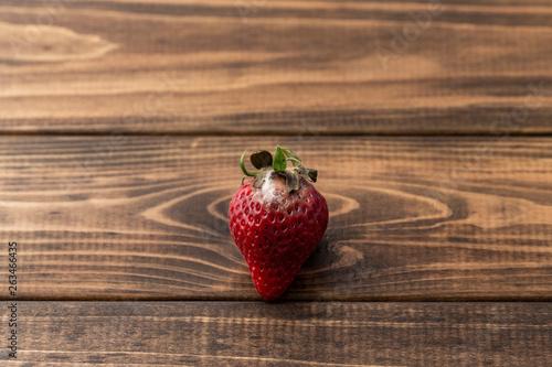 canvas print picture 腐ってカビの生えたイチゴ