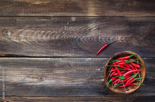 Organic fresh red chili peppers - 263516037
