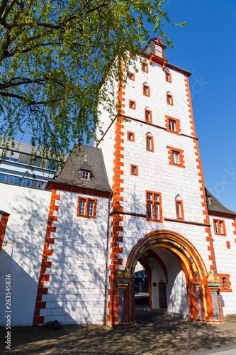 canvas print picture Mainz, der Eisenturm. 21.04.2019.