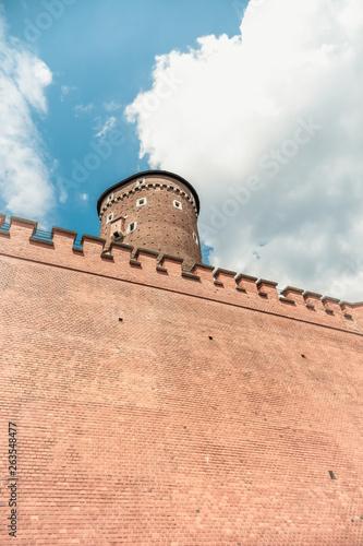 Massive walls of Wawel Castle