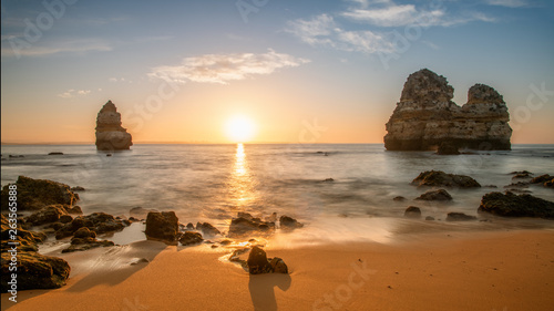 Beautiful beach at famous beach, Algarve, Portugal